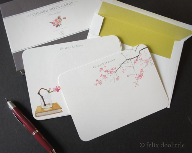 Themed Note Cards - Cherry Blossoms