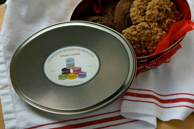 Oval Kitchen Label - French Macaroons
