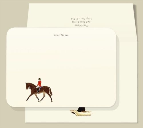 Personalized Note Cards - Red Rider