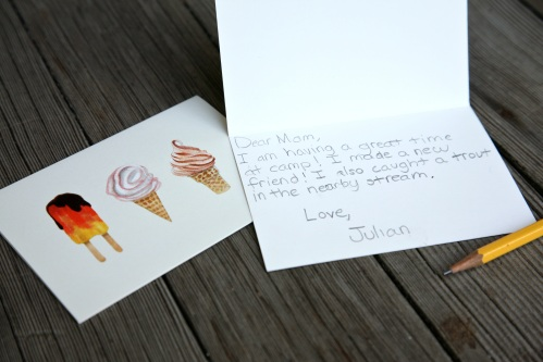 Hello! Folded Note Cards - Ice and Cream