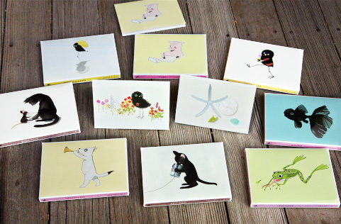 Hello! Folded Note Cards and their boxes